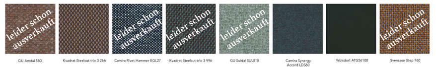 Stoffvarianten der Sonderkollektion des HÅG Capisco Copper wird in 8 verschiedenen Stoffen bei Riemenschneider-Wiesbaden.de