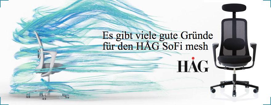 Aktionen HAG SoFi mesh bei Riemenschneider Wiesbaden