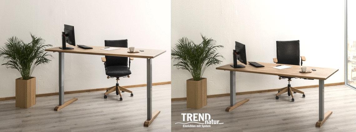 Höhenverstellbare Büro-Tische von Trend Natur