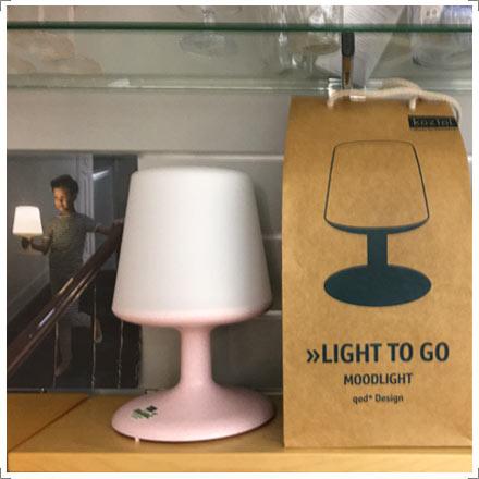 Koziol Light to go - die kabellose Leuchte bei Riemenschneider-Wiesbaden
