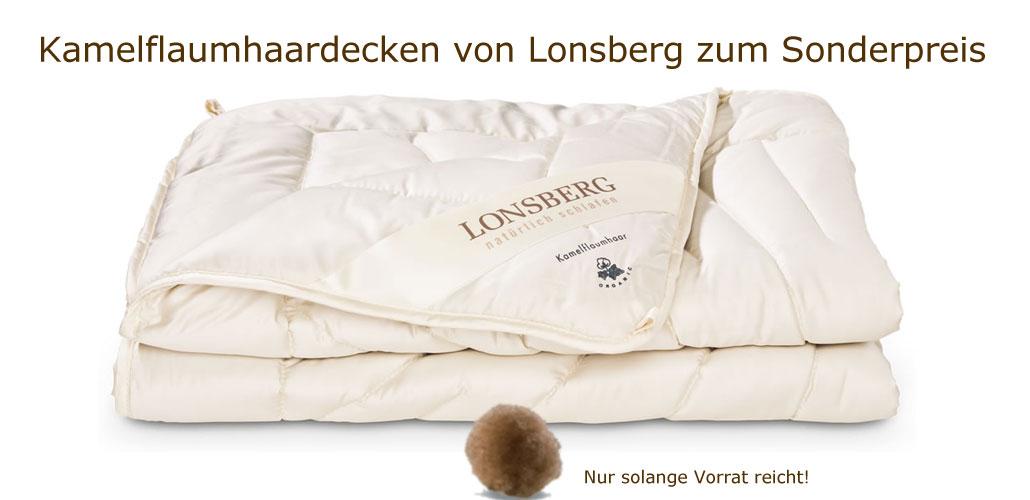 Kamelflaumhaar-Decken von Lonsberg zum Sonderpreis bei Riemenschneider-Wiesbaden