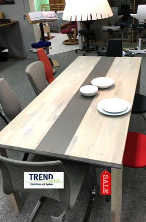 Tisch Trend mit Galseinlage zum Schnäppchenpreis bei Riemenschneider-Wiesbaden