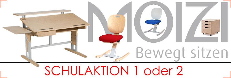 Moizi Schulaktion bis 12.09.2016 bei Riemenschneider Wiesbaden