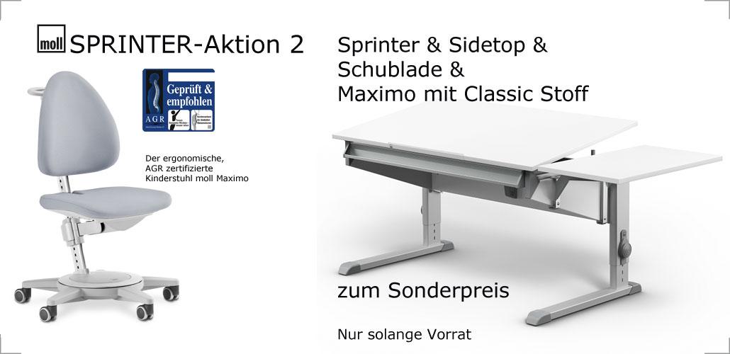 moll sprinter Aktion bei Riemenschneider-wiesbaden.de :: Sprinter + Schublade + Sidetop + Stuhl Maximo Classic für 765,- Euro