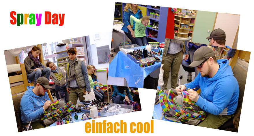 Spray Day für Ergobag Satch bei Riemenschneider Wiesbaden
