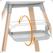 Der Stokke® Clikk. Komfort und Halt in jedem Entwicklungsstadium zwischen 6 Monaten und 3 Jahren. Bei Riemenschneider-Wiesbaden