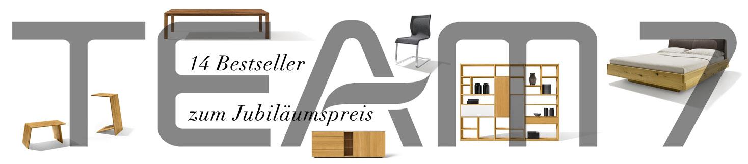 14 Bestseller zum Jubiläumspreis! bei Riemenschneider Wiesbaden - 60 Jahre TEAM 7